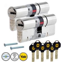 YALE Platinum 3 Star Keyed Alike Anti Snap Euro Cylinder UPVC Front Door Lock TS007
