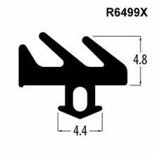 R6499X Black E Gasket UPVC Window Door Double Glazing Rubber Seal