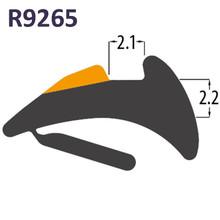 R9265 Black PVC Tear Off Wedge Gasket UPVC Window Door Double Glazing Rubber Seal