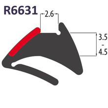 R6631 Black PVC Tear Off Wedge Gasket UPVC Window Door Double Glazing Rubber Seal