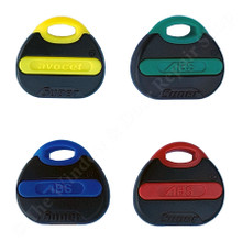 Avocet ABS Key Fob Coloured Upgrade Avocet Euro Cylinder Red Blue Green Yellow Inserts