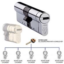 Avocet ABS 3 Star KA Keyed Alike Anti Snap Euro Cylinder UPVC Front Door Lock TS007