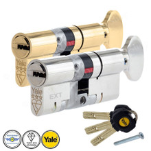 YALE Platinum 3 Star Thumb Turn  Anti Snap Euro Cylinder UPVC Front Door Lock TS007