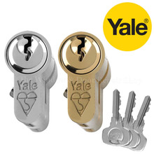 Yale 1 Star Anti Bump Euro Cylinder UPVC Front Door Lock KM Series