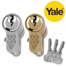 Yale 1 Star Anti Bump Euro Cylinder UPVC Front Door Lock KM Series