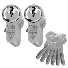 YALE 1 Star Keyed Alike Anti Bump Euro Cylinder UPVC Front Door Lock KM Series