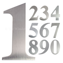 "UAP 3"" inch Self Adhesive Stainless Steel Door Numbers"