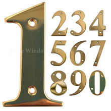 "UAP 3"" Screw Fixed Stainless Steel Door Numbers PVD Polished Gold"