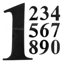 "UAP 3"" Self Adhesive Solid Brass Door Numbers Black Finish"