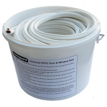 White Stormguard Replacement Bubble Gasket UPVC Window Door Double Glazing Rubber Seal 20m Tub