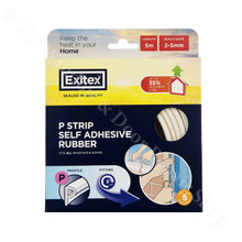 Exitex Self Adhesive Draught Excluder Rubber Door Window Seal P Profile