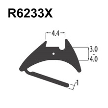 R6233X Black EPDM Reddiglaze Wedge Gasket UPVC Window Door Double Glazing Rubber Seal