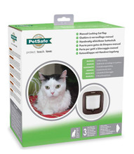 Staywell Petsafe Manual Locking Cat Flap Brown