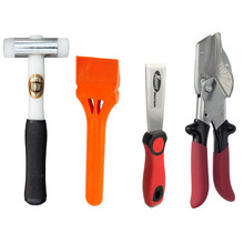 JCP Window Glazing Tool Kit Bundle with Thor 710 Nylon Hammer, JCP Glazing Paddle, Xpert Chisel and Xpert SK2 Mitre Shears (4 Items)