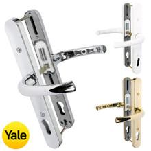 Yale Universal Replacement UPVC Door Handle Pair 92mm PZ Adjustable Fixings