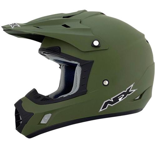 AFX FX-17 Flat Olive Drab MX Offroad Helmet