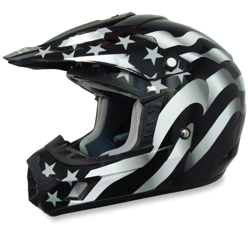 AFX FX-17 Flag MX Offroad Helmet
