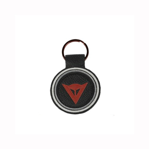 Dainese Logo Leather Portach Round Key Chain Ring