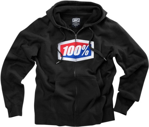 100% Official Mens Zip Up Hoody