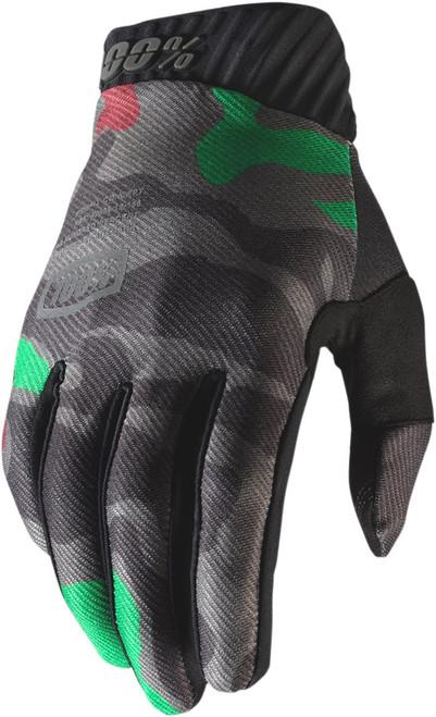 100% Ridefit Camo Mens MX Offroad Gloves