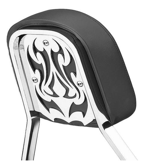 Cobra Chrome Backrest Insert for Short & Mini Square Backrests Tribal (02-5064)