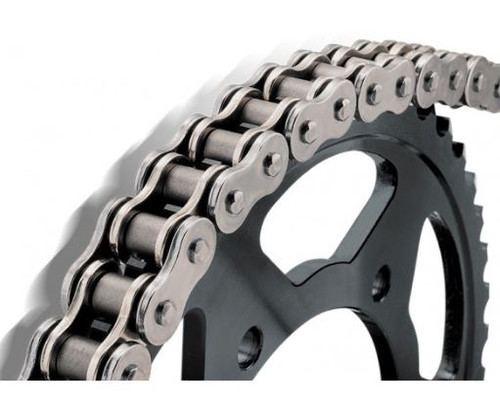BikeMaster 420 Precision Roller Chain Natural 124 Links (420 X 124)