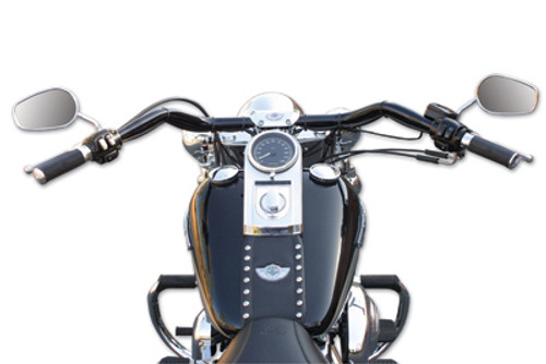 "Baron Big Johnson 1.25"" Handlebar for Harley Davidson Black (LA-7303-01B)"