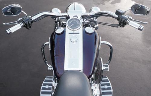 """Baron Big Johnson 1.25"""" Handlebar for Harley Davidson Chrome (LA-7303-01)"""