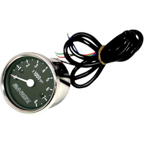 Baron Replacement Bullet Black Face Tachometer (BA-07-660T)