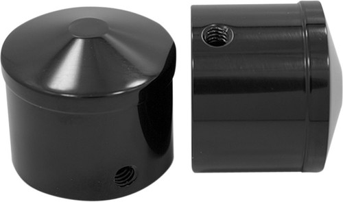 "Avon Air Cushion 1"" Front Axle Nut Covers Black Anodized (AXL-AIR-ANO)"
