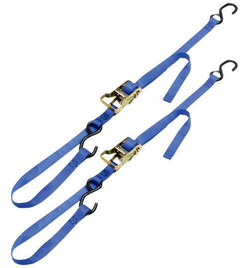 "Ancra 1"" Integra Ratchet-Buckle Tie Downs Blue (49498-12)"