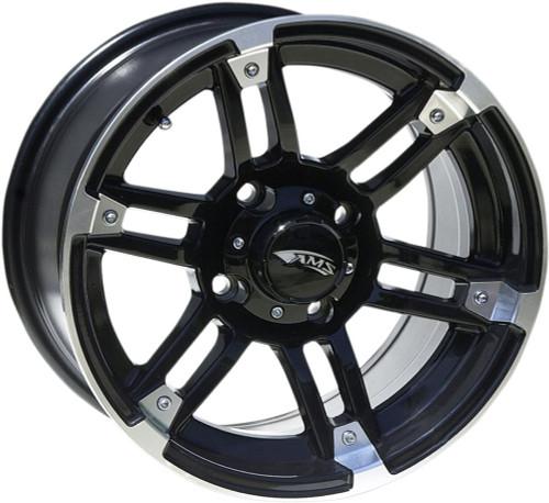 AMS Roll'n 104 Cast Aluminum Wheel R104 15X7 4/156 Machined Black (0230-0910)