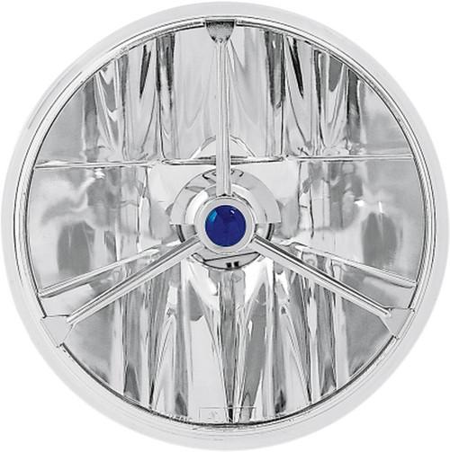 "Adjure Halogen Headlight Wave-Cut Trillent w/Blue Dot 7"" (T70403)"