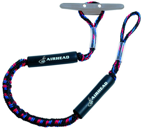 Airhead 4' Bungee Dock Line Black/Red/Blue (AHDL-4)