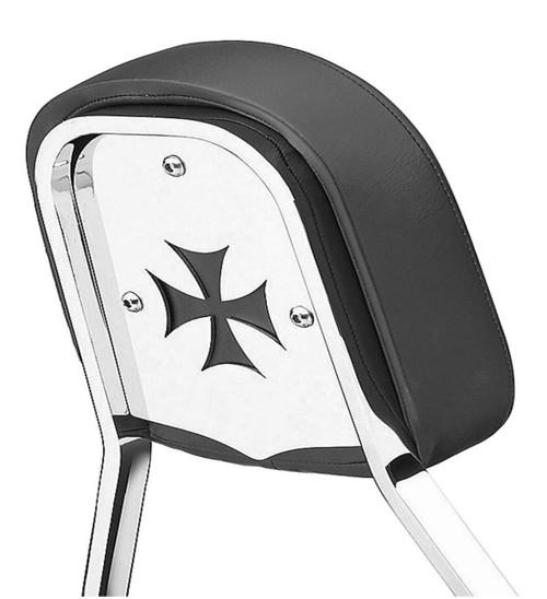 Cobra Chrome Backrest Insert for Short & Mini Square Backrests Cross (02-5063)