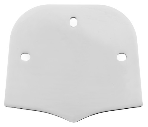Cobra Chrome Backrest Insert for Short & Mini Square Backrests Plain (02-5060)