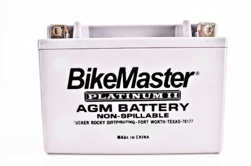 BikeMaster AGM Platinum II Battery 120 CCA 151L X 87W X 146H (HTX14L-FA)