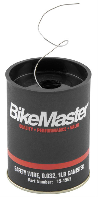 """BikeMaster .032"""" Safety Wire 1 lb. Can (151565)"""