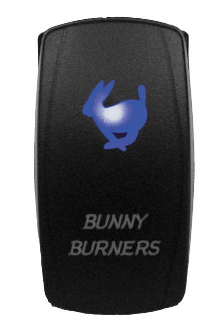 DragonFire Laser Etched LED Switch Bunny Burner On/Off w/Blue LED (04-0068)