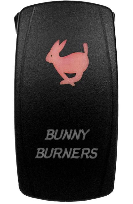 DragonFire Laser Etched LED Switch Bunny Burner On/Off w/Red LED (04-0069)