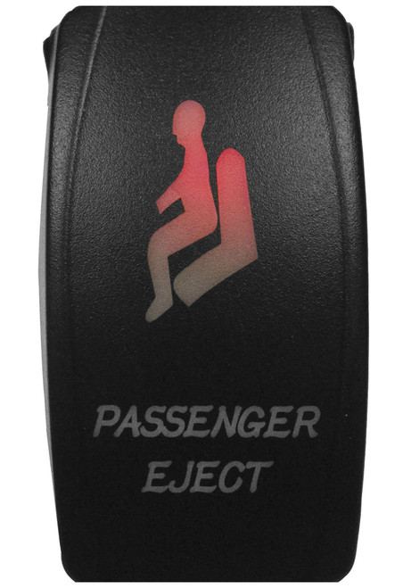 DragonFire Laser Etched LED Switch Passenger Eject w/Red LED (04-0081)