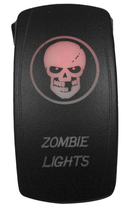 DragonFire Laser Etched LED Switch Zombie Light On/Off w/Red LED (04-0077)