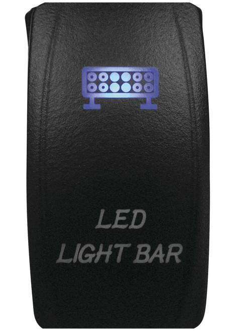 DragonFire Laser Etched LED Switch Light Bar On/Off w/Blue LED (04-0062)