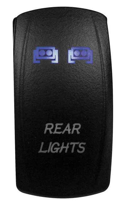 DragonFire Laser Etched LED Switch Rear Lights On/Off w/Blue LED (04-0070)