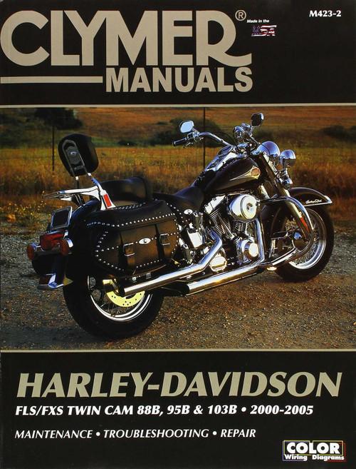 Clymer Repair/Service Manual '00-05 Harley FLS/FXS Twin Cam 88B/103B (M423-2)