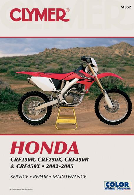 Clymer Repair/Service Manual '02-05 Honda CRF250R/250X, CRF450R/450X (M352)