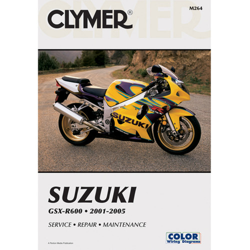 Clymer Repair/Service Manual '01-05 Suzuki GSX-R600 (M264)