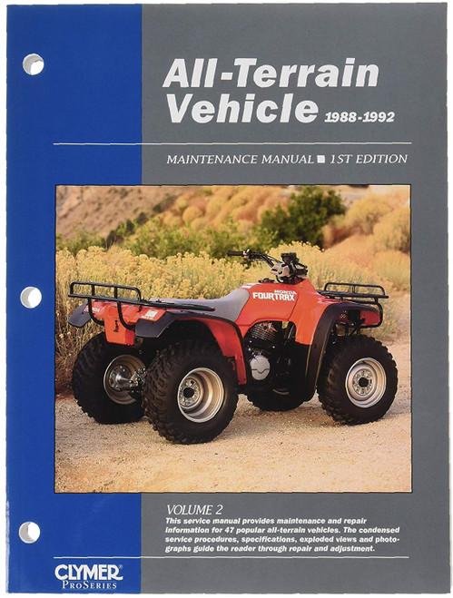 Clymer ATV VOLUME 2 SERVICE MAINTENANCE MANUAL 1988-1992 (ATV2-1)