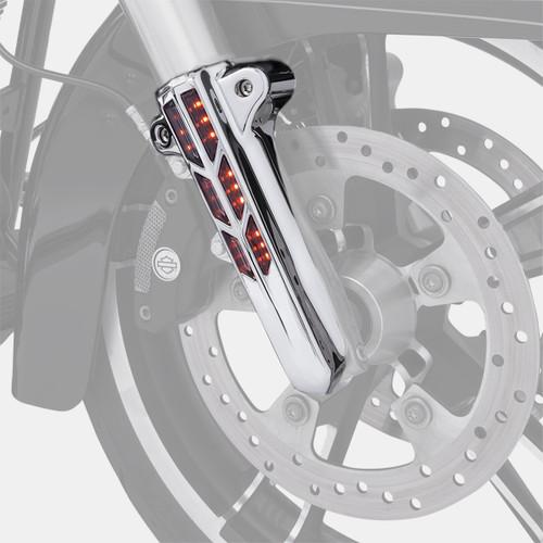 Ciro Lower Fork Leg Covers Chrome w/Lighted LED (43001)