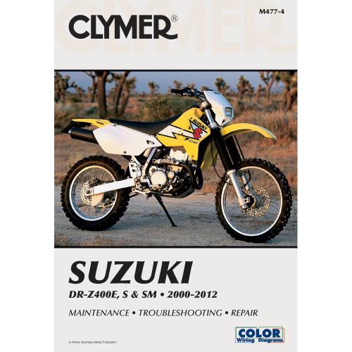 Clymer Repair/Service Manual '00-12 Suzuki DR-Z400E, DR-Z400S/DR-Z400SM (M477-4)